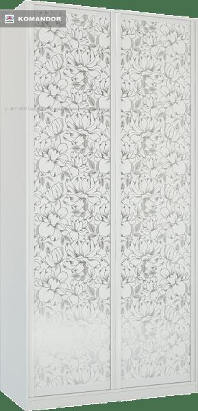 Шкаф распашной Лазурит белый двух-дверный 1812006004