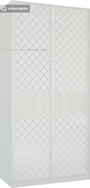Шкаф распашной Лазурит белый двух-дверный 1812006002