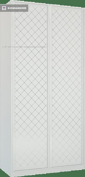 Шкаф распашной Лазурит белый двух-дверный 1812006001